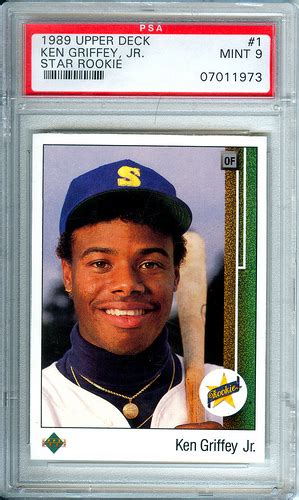 ken griffey jr 1989 deck rookie card flickr photo