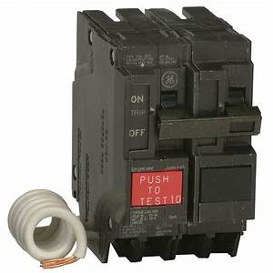Ge 20 Amp Double Pole Ground Fault Breaker With Self