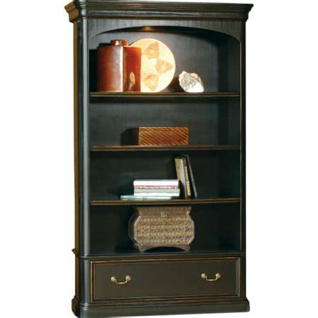 Bookcase 50 Inches Wide by Hekman 79144 Louis Phillippe 50 Inch Wide Wood Lighted