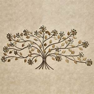 bellissa floral branch metal wall art 59 inches wide With metallic wall art