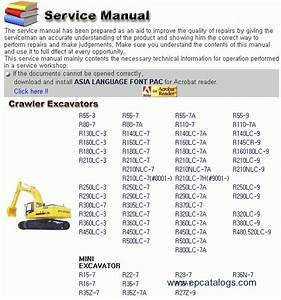 Hyundai R Series Crawler And Mini Excavator Service Manual Download