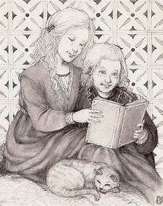 Tommen and Myrcella reading by Nawia on DeviantArt