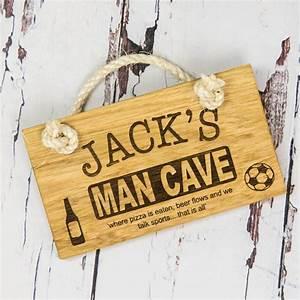 Personalised, Man, Cave, Sign, By, Bespoke, U0026, Oak, Co