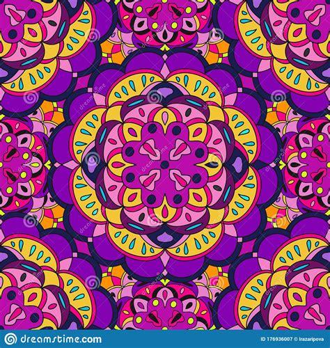 Abstract Festive Colorful Mandala Vector Ethnic Tribal