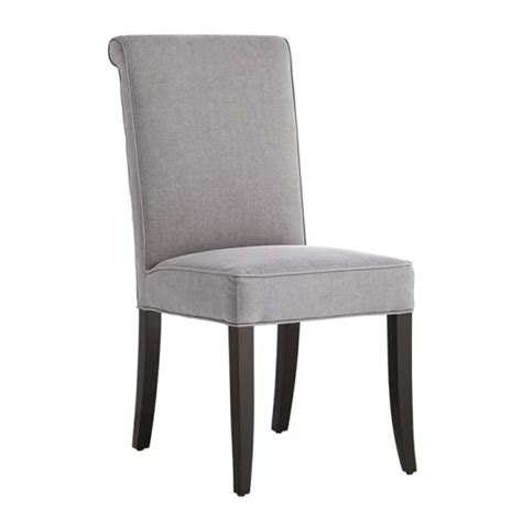 Baron Vintage Linen Gray Fabric Dining Chair  Buy Fabric
