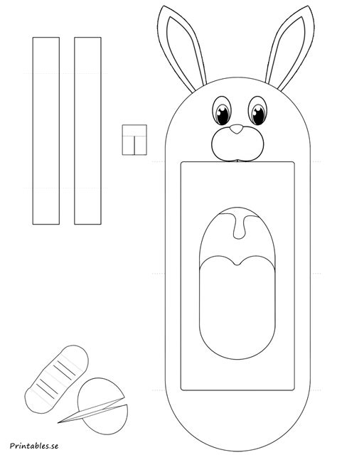 hand puppet bunny  printable