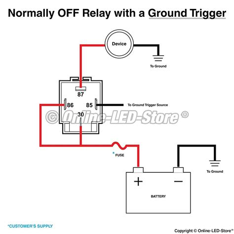 Wire Relay Diagram Wiring