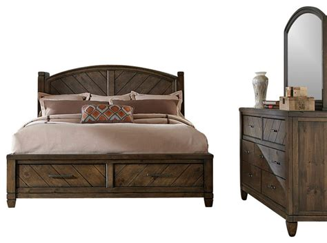 modern country bedroom set with solid spruce pine wood and
