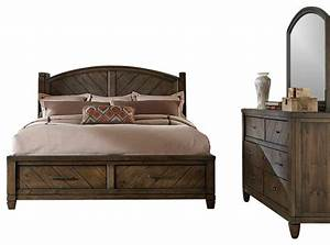 Modern Country Bedroom Set with Solid Spruce Pine Wood and ...