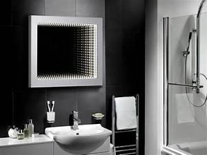 miroir de salle de bain a lencadrement design design feria With salle de bain design avec miroir salle de bain gris