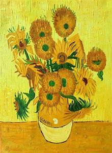 Vase with Fifteen Sunflowers by Van Gogh - Canvas Painting ...