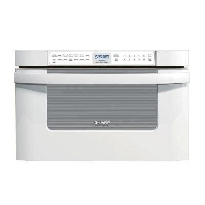 sharp     cu ft built  microwave drawer  white  sensor cooking kbpw