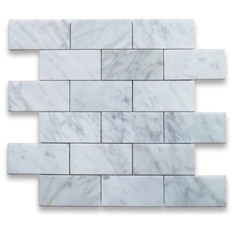3x6 carrara white honed marble tile