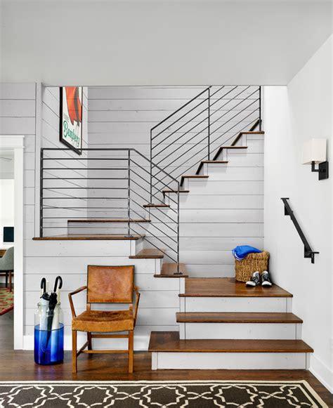 foster residence farmhouse staircase austin