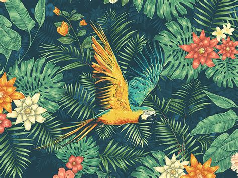 Tropical Animal Wallpaper - tropical wallpaper bdfjade