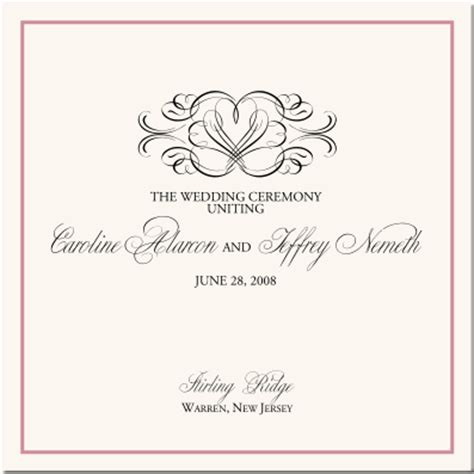 flourish heart wedding program examples wedding program