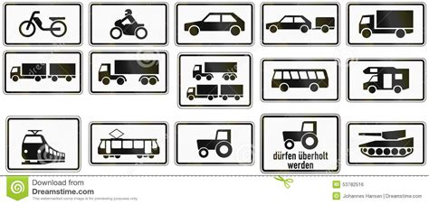 Supplemental Vehicle Types In Germany Stock Illustration