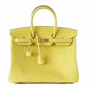Hermes Birkin Bag 35cm Matte Yellow Mimosa Alligator Gold ...  Hermes