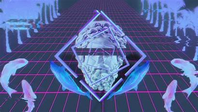 Vaporwave Glitch Wallpapers Statue 4k Desktop Windows