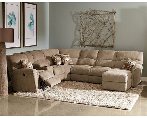 Recliner Sectional Sofas by Grand Torino Reclining Sectional Kuebler S Furniture