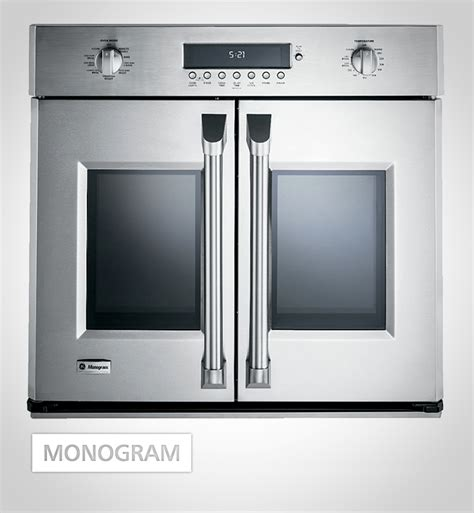 ideal  small kitchens  monogram french door wall oven   space  front