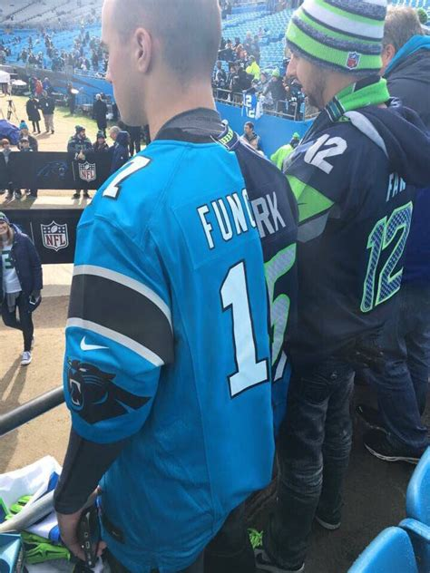fan  panthers  seahawks game wearing  ultimate