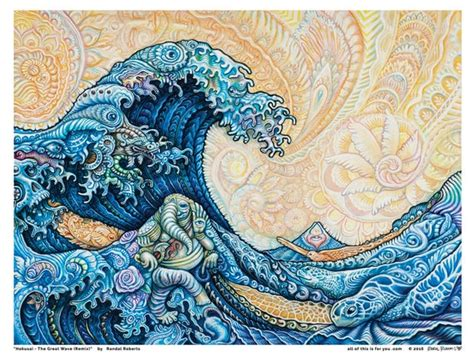 hokusai  great wave rr remix  poster etsy
