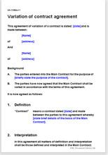 agreement  change  contracts terms