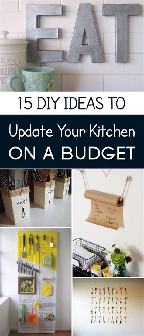 diy kitchen decor on a budget 15 easy diy ideas to update your kitchen on a budget my Diy Kitchen Decor On A Budget