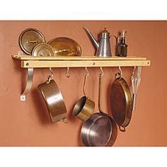 cing kitchen storage pot racks towel bar and s hooks easy this idea 1975