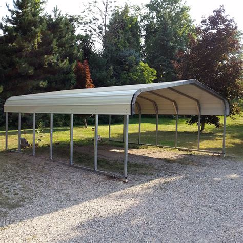 Car Port Metal by C 03 18x20x7 Carport Midwest Steel Carports