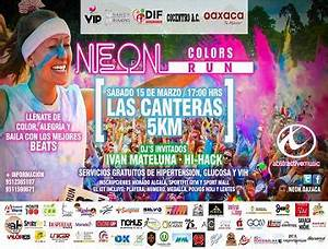 Carrera Neon Colors Run Oaxaca Panorama del Pacifico