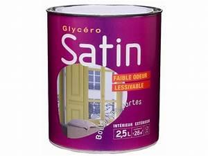Peinture Glycero Bois Exterieur : peinture glyc ro satin 2 5l ton bois ~ Melissatoandfro.com Idées de Décoration
