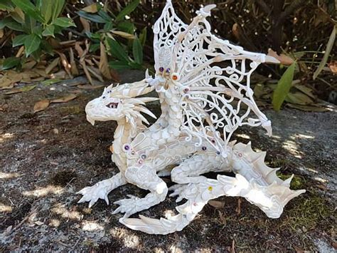 Made To Order This Is A Lace Dragon With Details On The