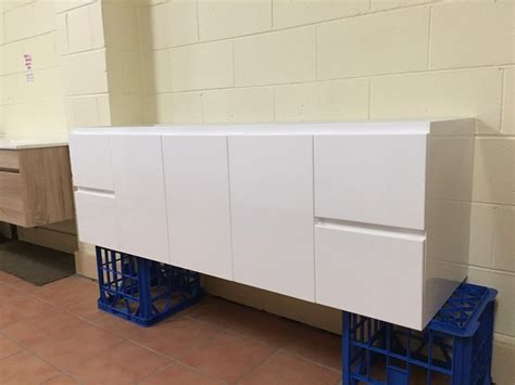 wall mounted bathroom vanity cabinet only odyssey 1500mm white gloss polyurethane wall hung soft