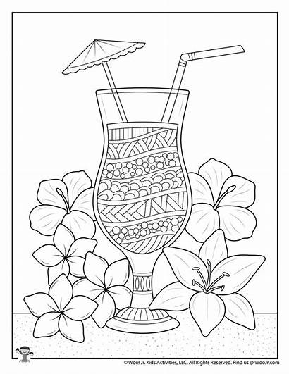 Coloring Adult Tropical Drink Woojr Activities Woo