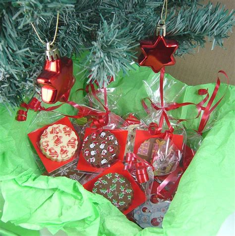 ten chocolate christmas tree decorations by chocolate by