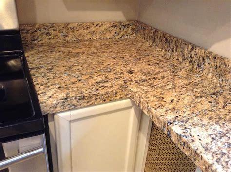 Imitation Granite Countertops by Faux Granite Diy Installation Heartwork