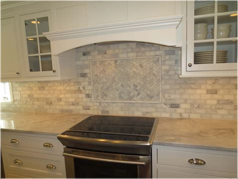 Marble Subway Tile Backsplash Kitchen Home Design Ideas