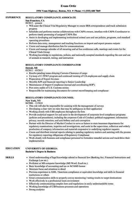 Regulatory Compliance Resume regulatory compliance resume bijeefopijburg nl