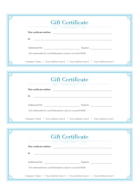 Gift Certificate Template Free The Gallery For Gt Free Gift Certificate Template