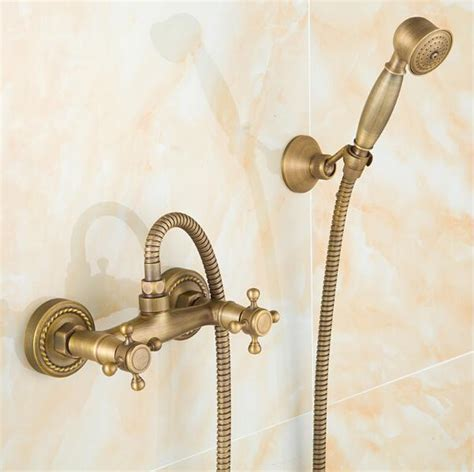 Bathroom Shower Fixture Sets by 2018 Antique Brass Bathroom Bath Wall Mounted Held