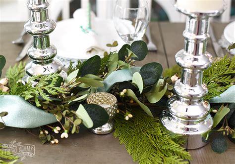 aqua green farmhouse christmas table decoration ideas