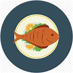 Fish Cooked Icon Clipart Icons Sea Clip