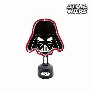 Lampe Star Wars : luminaire n on rouge dark vador star wars sur rapid cadeau ~ Orissabook.com Haus und Dekorationen