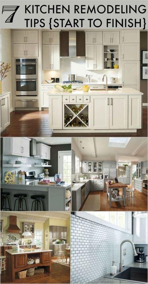 kitchen remodeling tips start  finish home