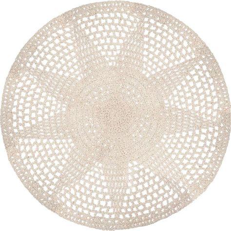 tapis rond coton femandm