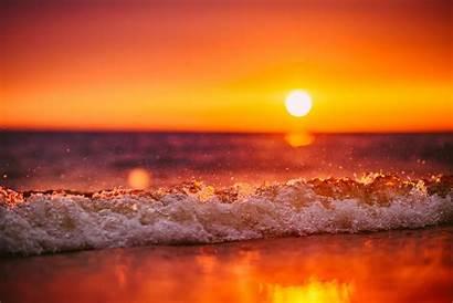 Sunset Waves Beach Tilt Shift Wave Sea