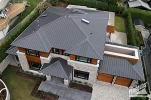 Charcoal Ziplok Metal Roof In West Vancouver