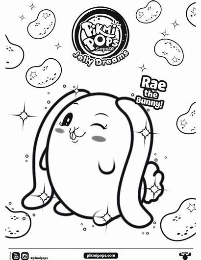 Pikmi Pops Coloring Bunny Sheet Pages Season